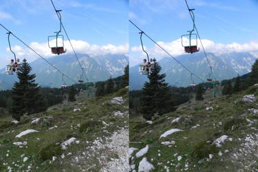 Stereoscopic hang in there by GizmoX7