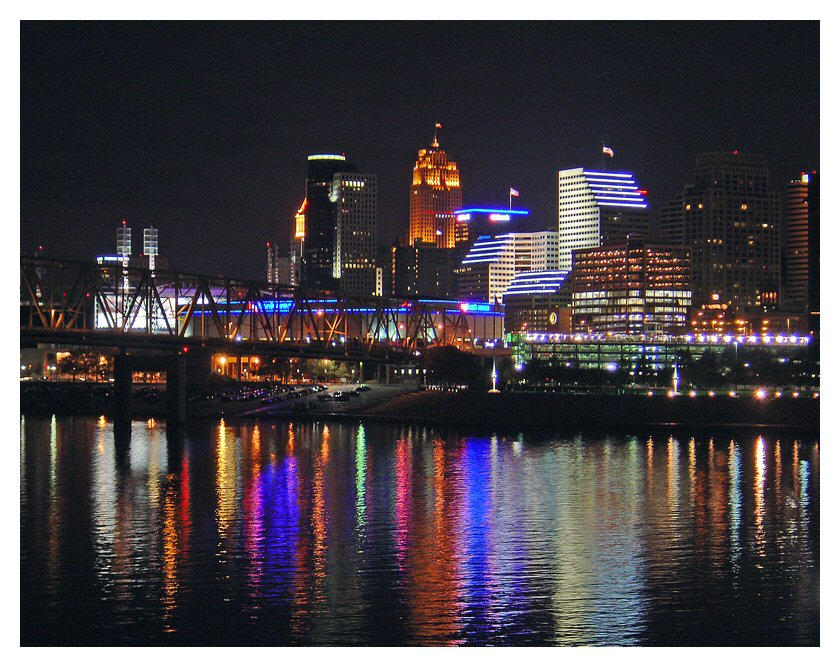 Cincinnati Skyline by schizobabe