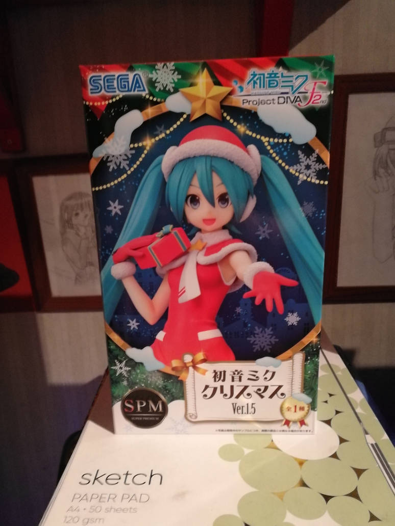 Hatsune Miku Christmas Outfit.Hatsune Miku Christmas Outfit Figure By Thegrimreaper1992