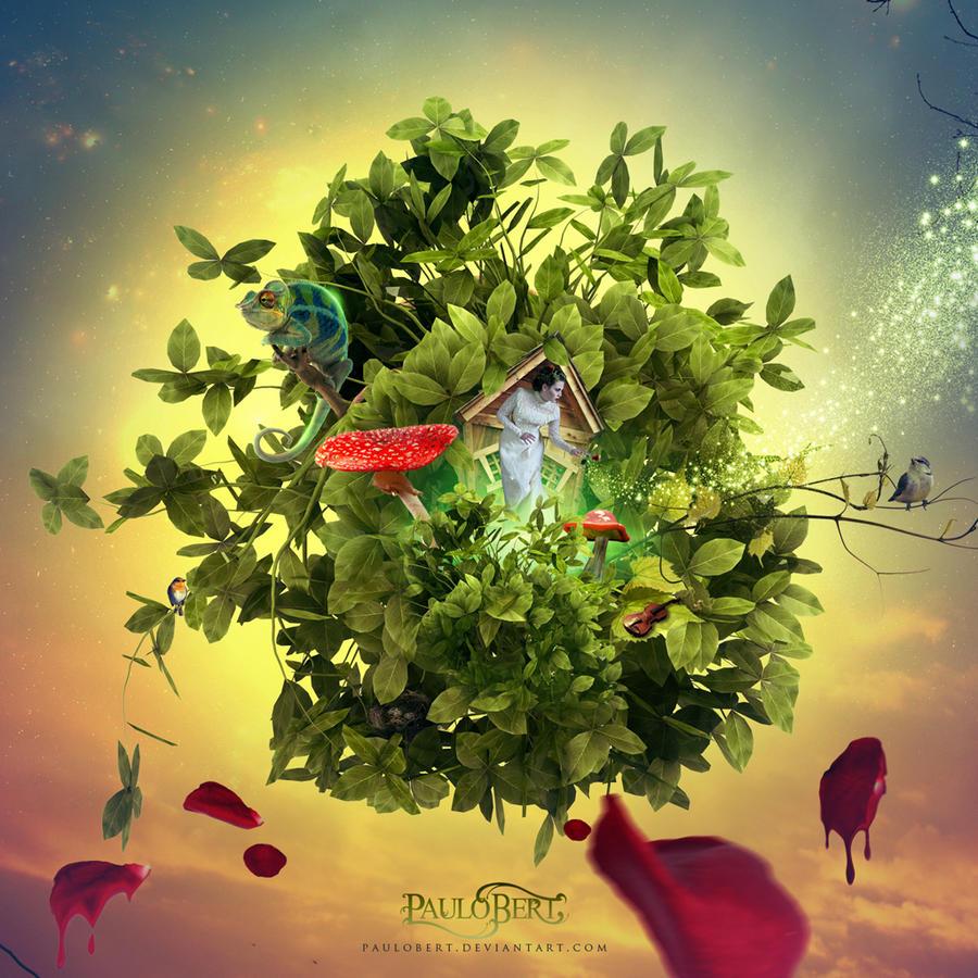 Lady Of Flowers by Paulo-Bert