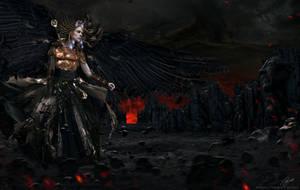 Brunhild The Black Valkyrie by Paulo-Bert