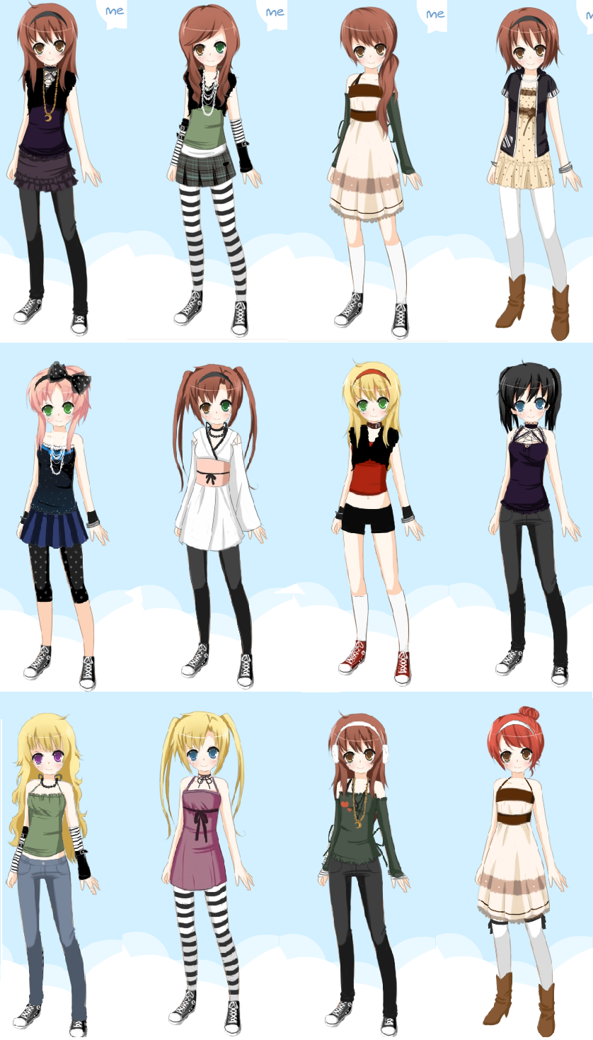 anime girl dress up by mimi8 on DeviantArt