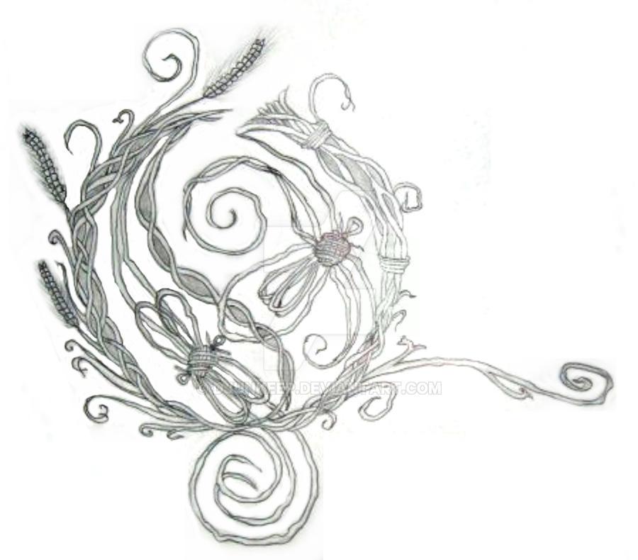 Opeth Rustic Wreath Design By DjunKeep