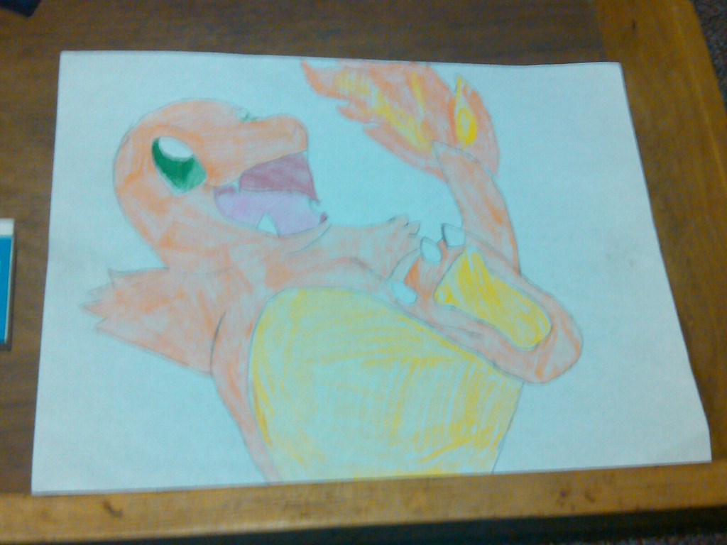 Colored Charmander by ChibiShadowPanda