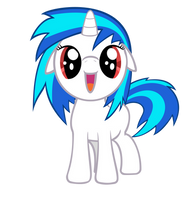 Vinyl Scratch filly - Request by NinjamissenDk