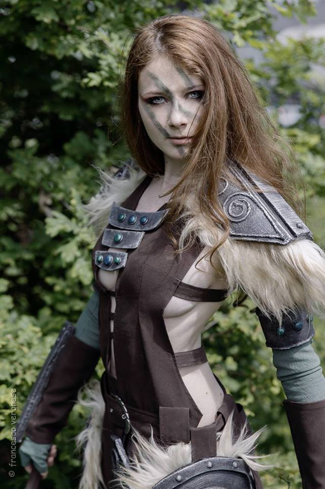 aela the huntress from skyrim cosplay by