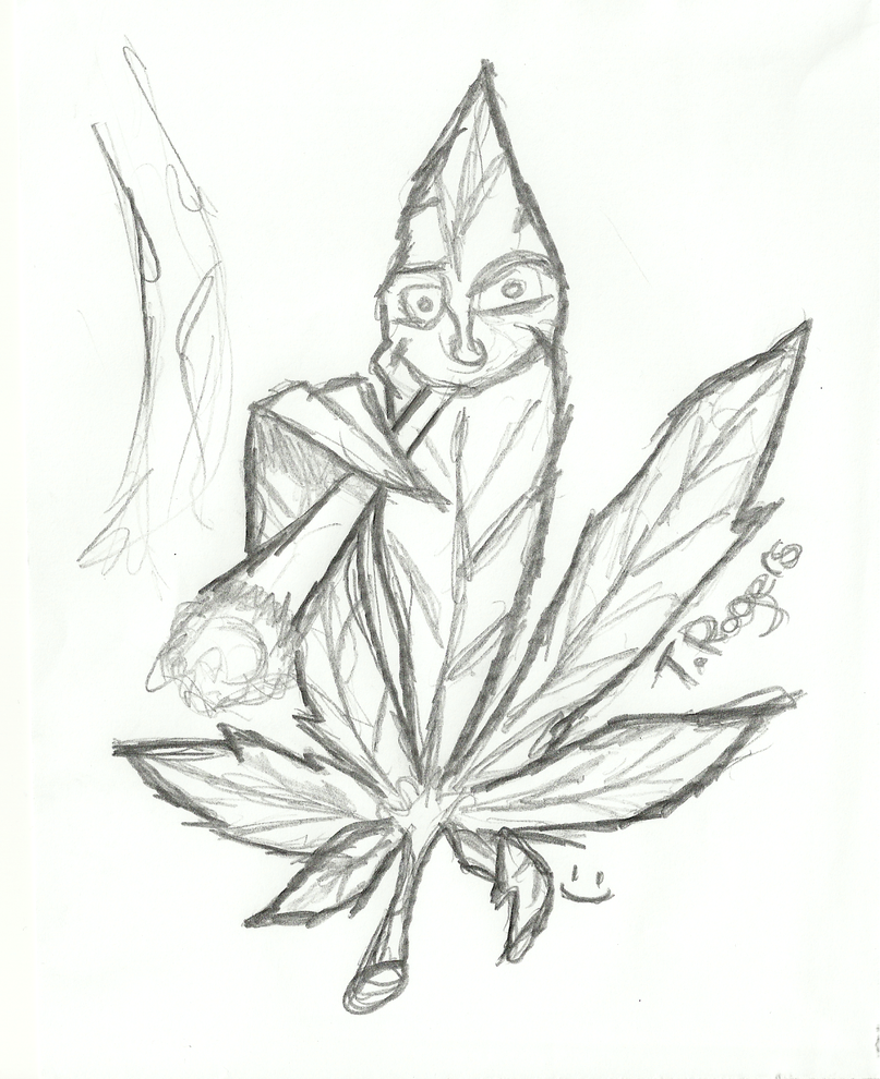 Cool Weed Drawings Pencil Sketch Coloring Page