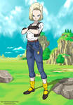 Android 18 Crossing Arms