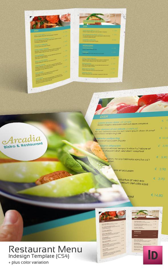 Restaurant menu indesign template by newjayne on deviantart for Artistic cuisine menu