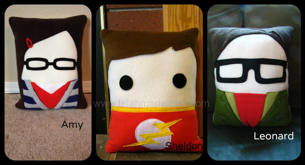 big bang theory pillows by telahmarie