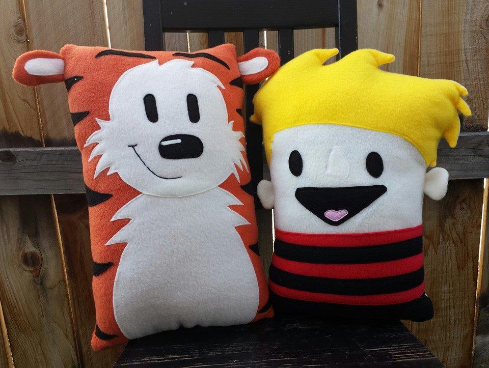 calvin and hobbes pillows by Telahmarie