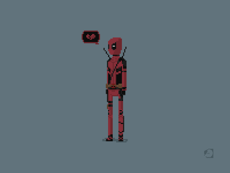 Deadpool Pixel Art Illustration by iSketchworks