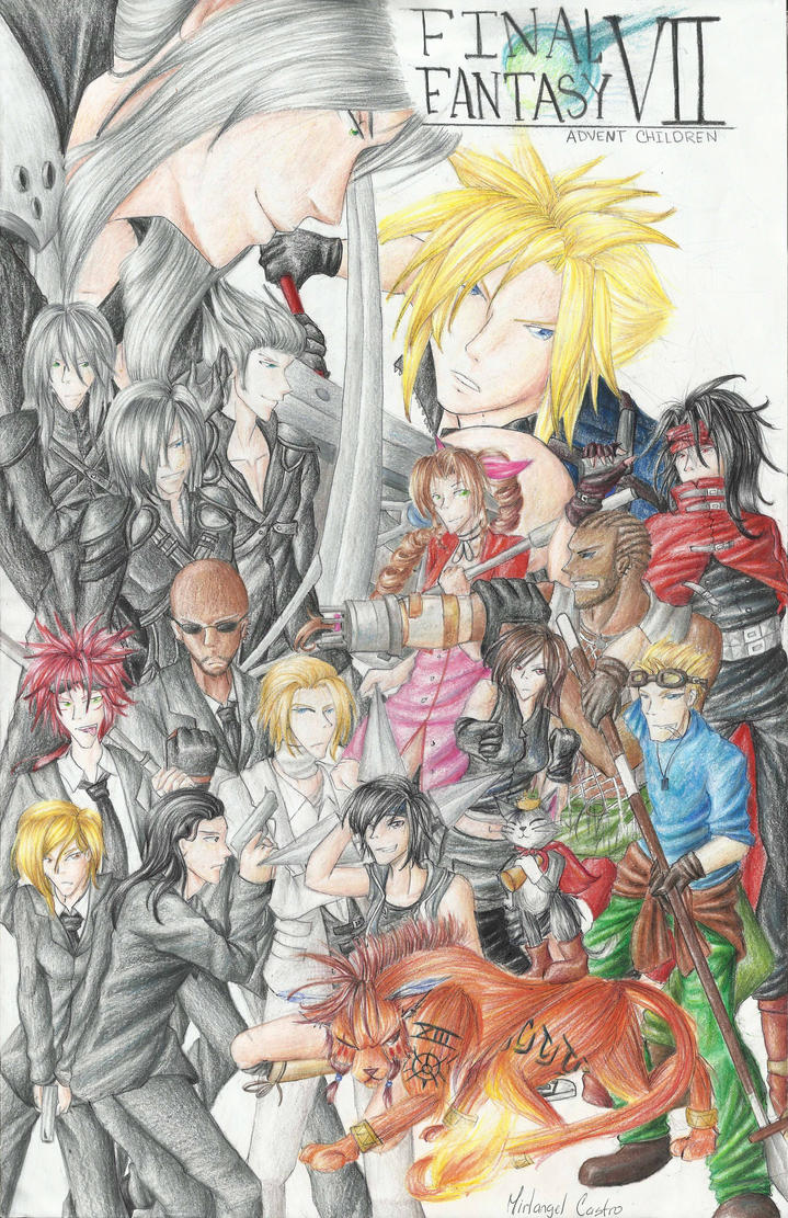 Final fantasy VII Advent Children by IDamiant
