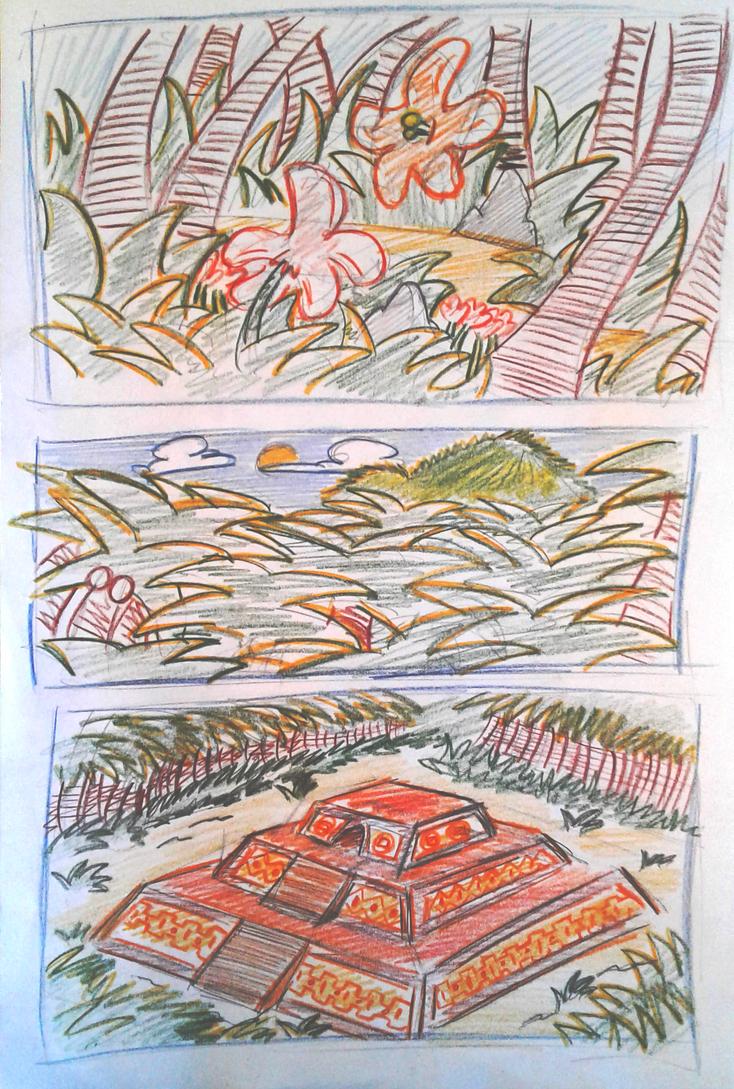 Jungle and temple Concept. by EduardoAriosto