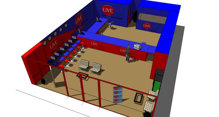 live print 3d store1 by okanime