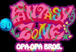 3D Fantasy Zone: Opa-Opa Bros. logo by RingoStarr39