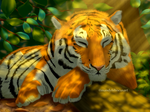 Sleeping tiger by mandyhibiscus