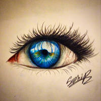 Eye doodle by Sophiethebrave