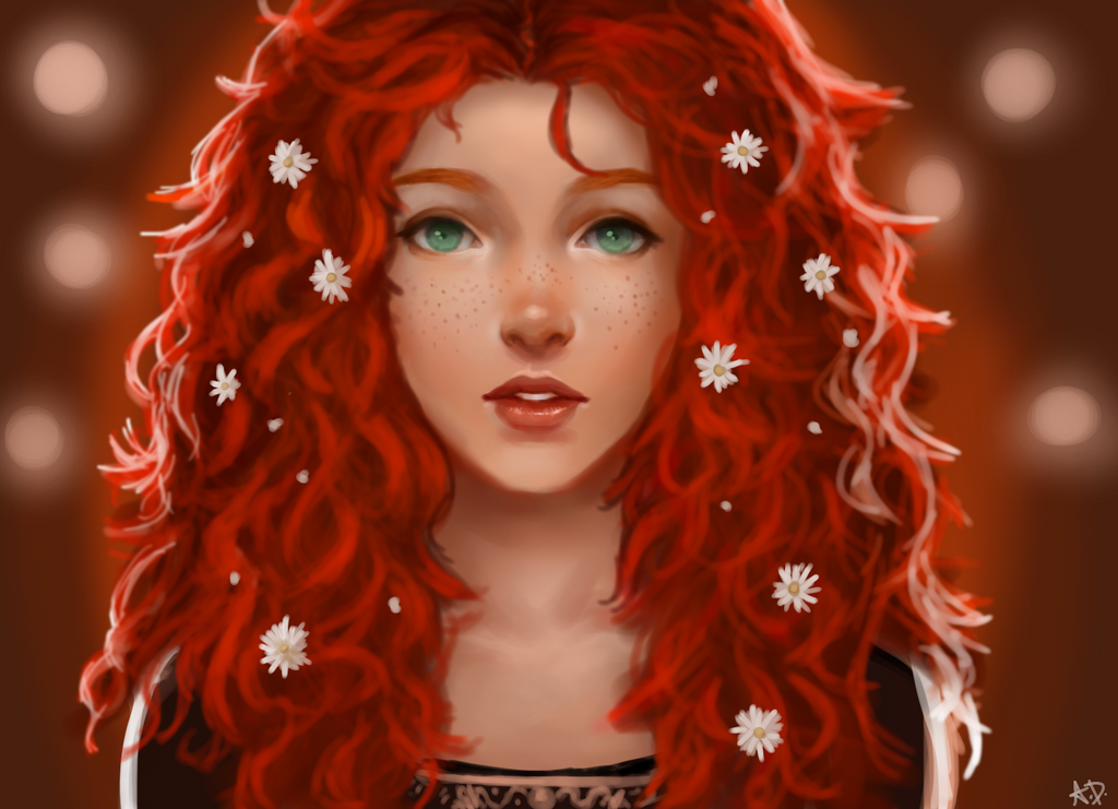 Curly Red Hair By Waffelpirate9o9 On Deviantart