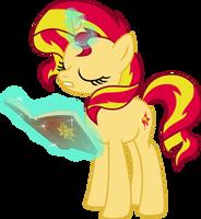 Sunset reading by lunarina