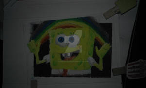 Spongebob Imagination Meme (3rd Oil Painting)