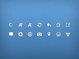 Android actionbar icons by Ashung