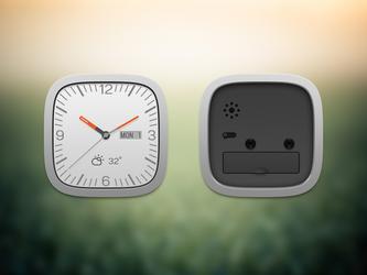 Clock widget front and black