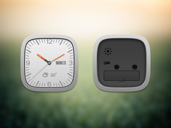 Clock widget front and black by Ashung