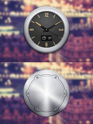 Clock widget II front and black by Ashung