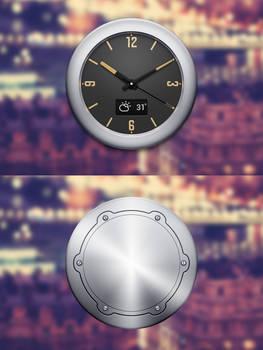 Clock widget II front and black