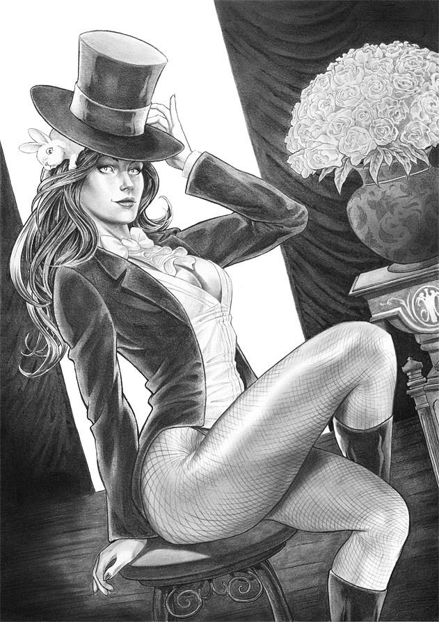 Zatanna - graphite by ChrisEvenhuis