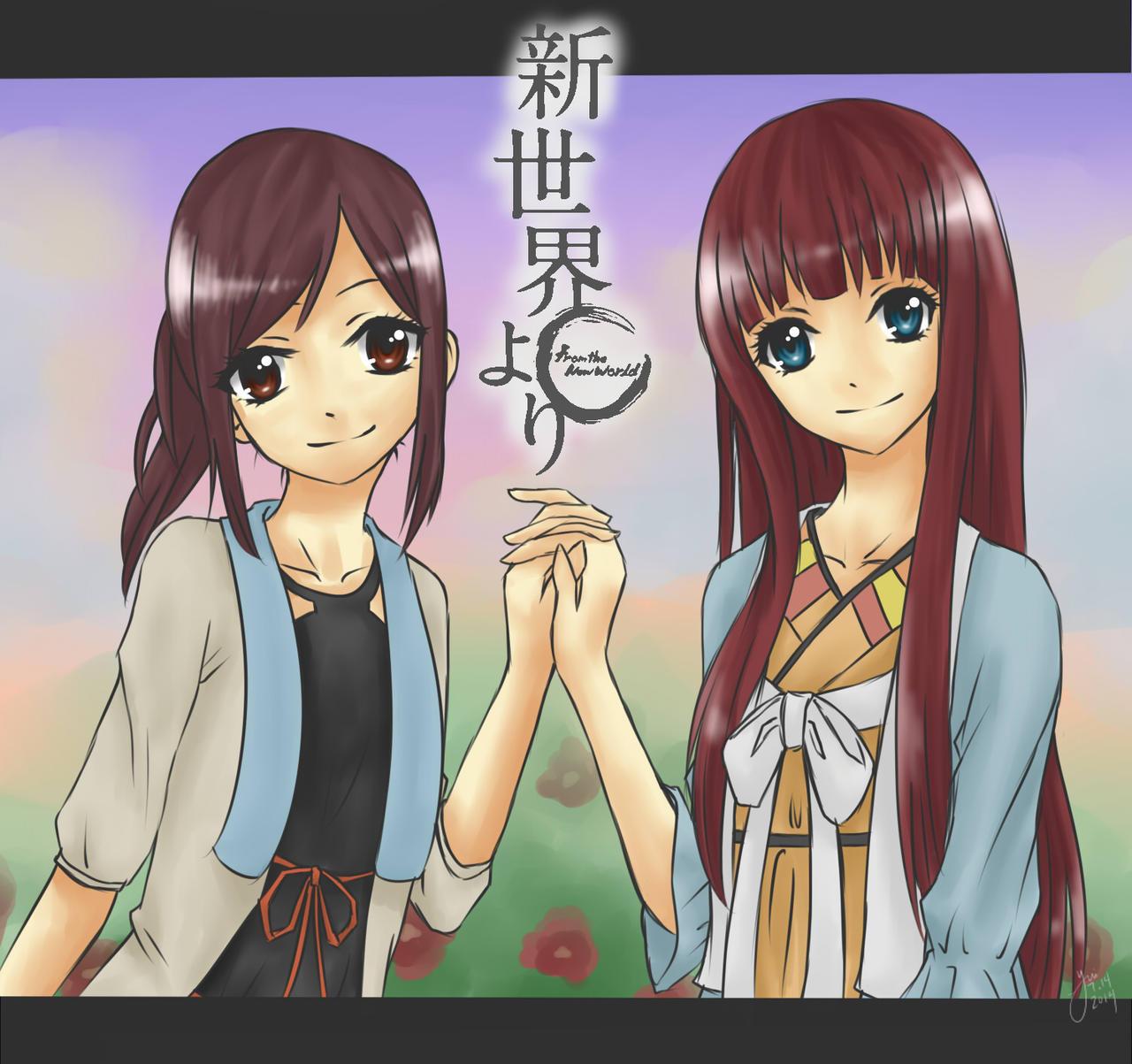 Shinsekai Yori: Saki and Maria by pgrasshopper7 on DeviantArt