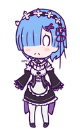 Chibi Rem ~ by nyphi