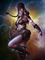 Blood Elf - Shadow Priest by Erulian