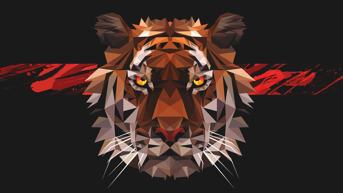 Savage tiger low poly by destructor021 on deviantart savage tiger low poly by destructor021 altavistaventures Choice Image