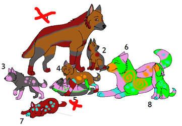 wolf Adoptables 2 by Britteny-Thylacine