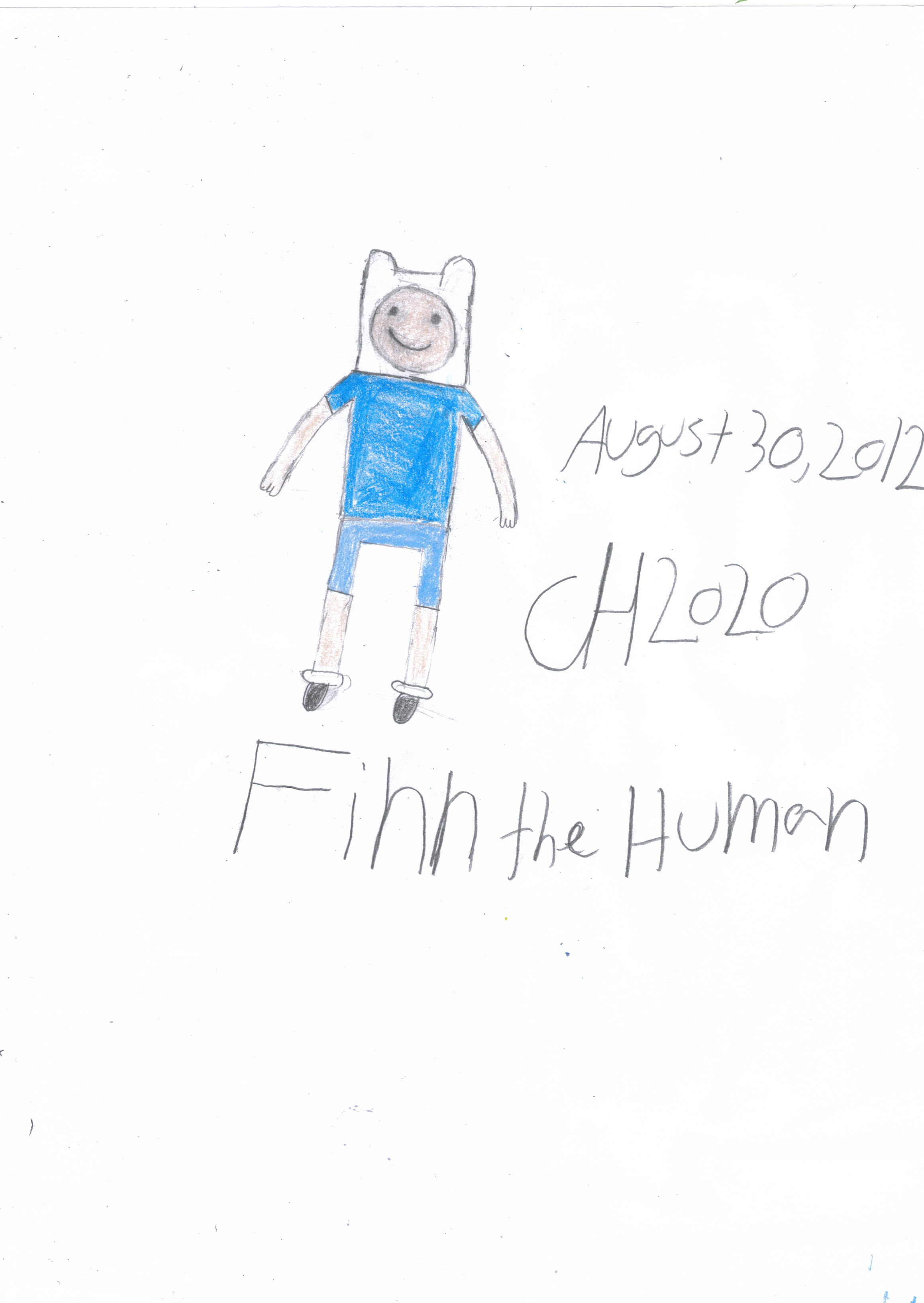 Finn the human August 30,2012 by Chernandez2020