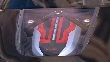 Gran Turismo 6 Toyota F1 engine close up by Chernandez2020