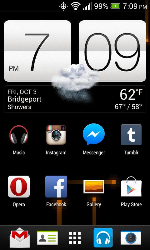 My HTC One SV Homescreen by hernandez2