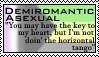 Demiromantic Asexual Stamp by GlassTheAbsol