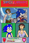 Sonic and Lara Croft Crossover Story Cover by cvgwjames