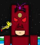 Super Sonic vs Eggman' Robo Galactus (by James M) by cvgwjames