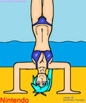 Lana doing a handstand in a bikini (by James M)