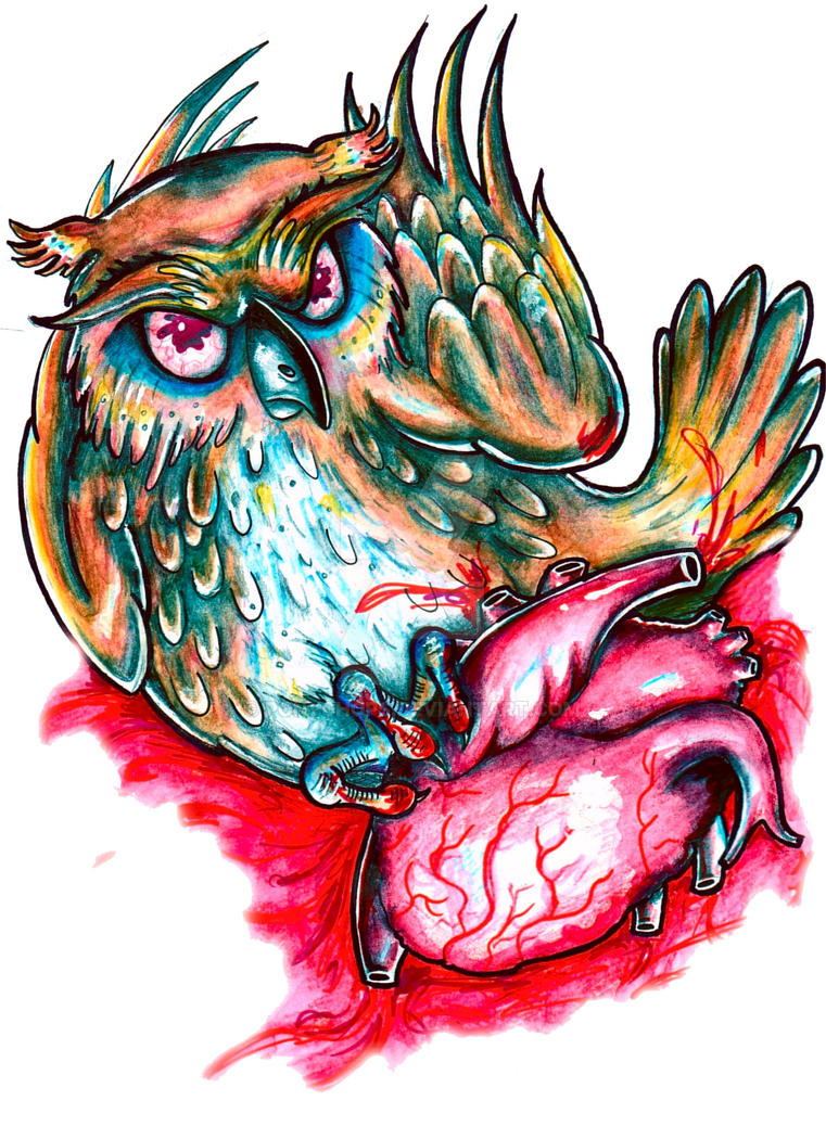 Owl Heart by ponychops