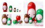 Christmas Russian Dolls