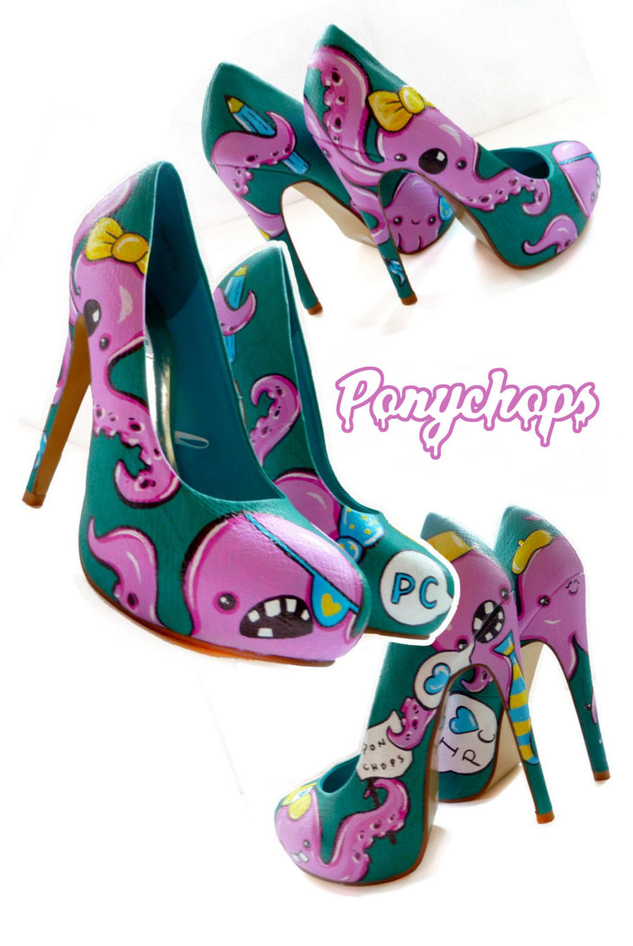 Octopus Stilettos by ponychops