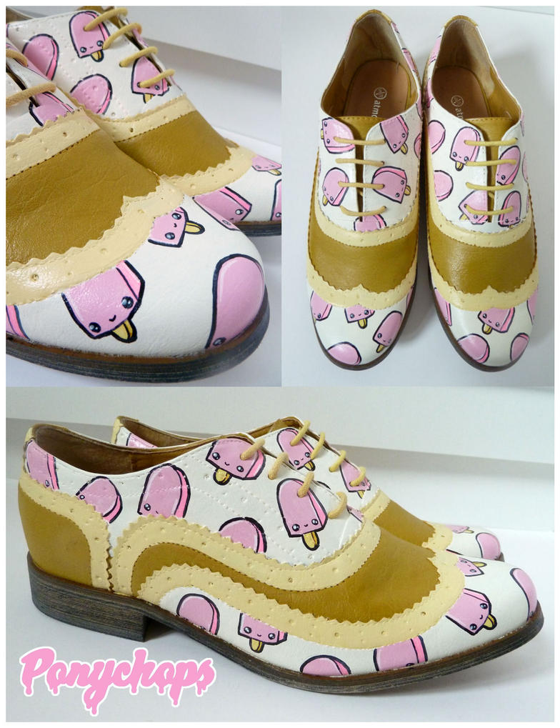 Lemon Strawberry Ice Cream Brogues by ponychops