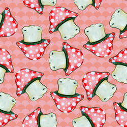 Toadstool Fabric Pattern by ponychops