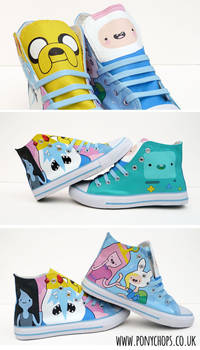Jake the dog and Finn the human High Tops