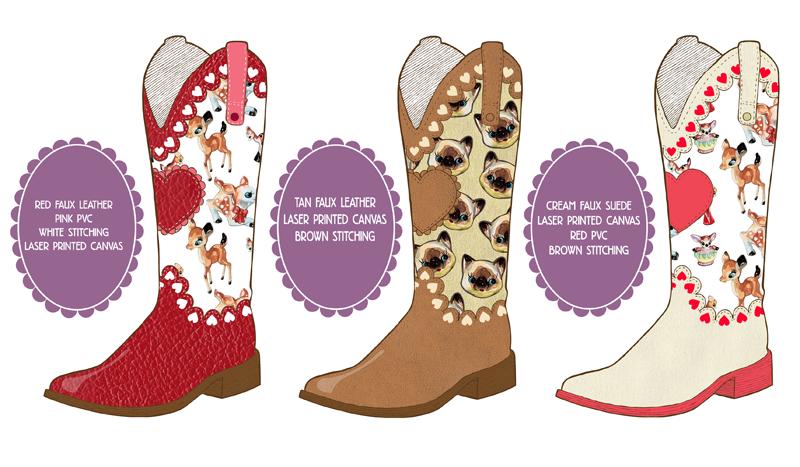 Cowboy Boots - Laura Manfre Collaboration Part 1 by ponychops